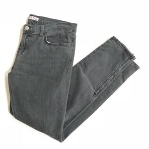 J BRAND skinny jean zip ankle Smokey gray black 30